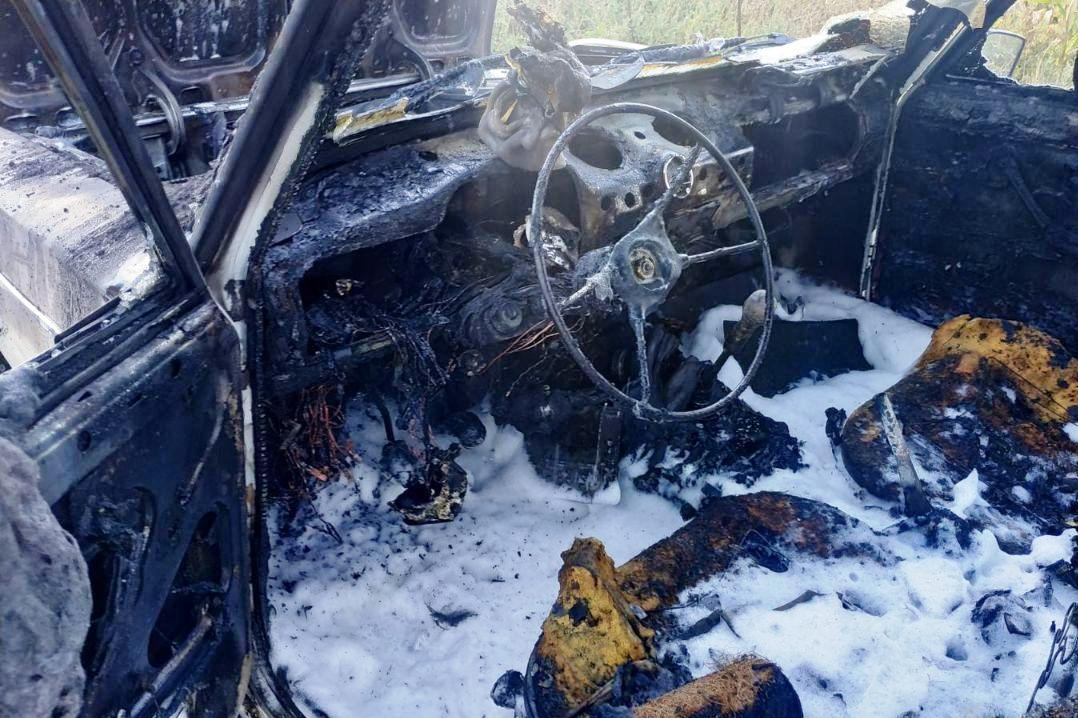 На Чернігівщині за добу згоріло дві автівки (Фото)