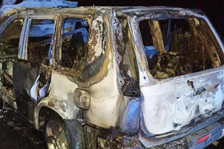 Біля Батурина згорів автомобіль «Нісан» (Фото)
