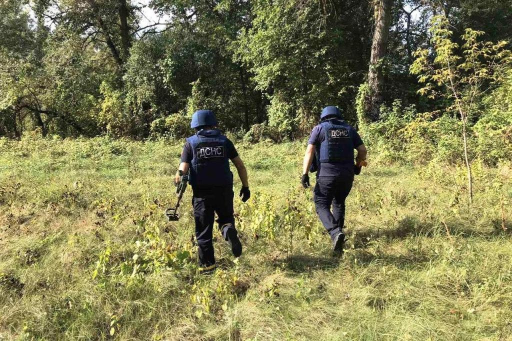 Територію біля Шестовиці очистили від снарядів (Фото)