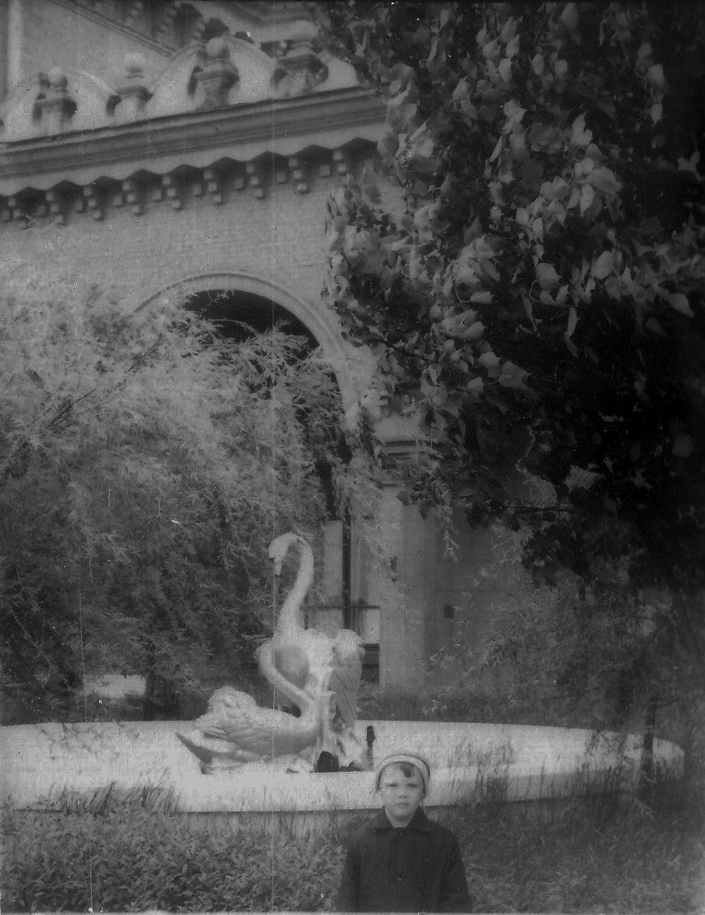 Старий Чернігів: скульптури лебедів і фонтани біля вокзалу (Фото)