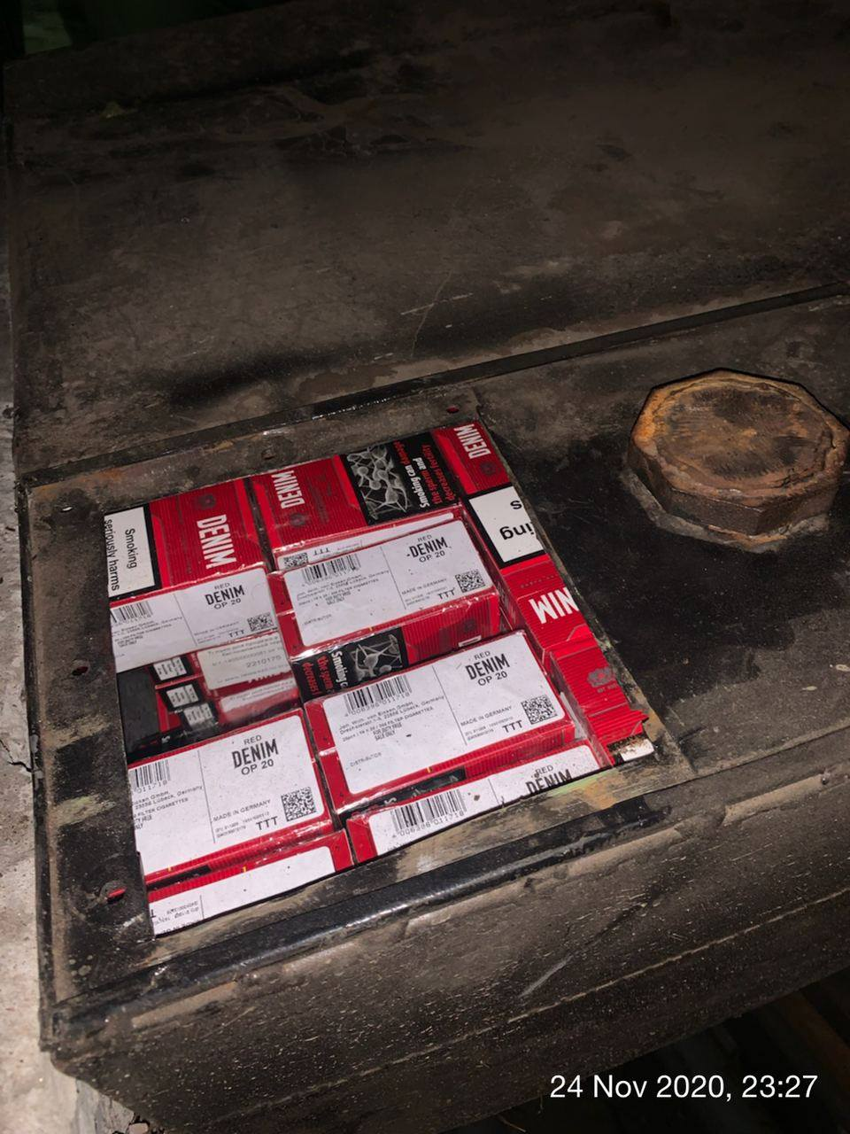 Чернігівські митники вилучили понад 2000 пачок сигарет (Фото)