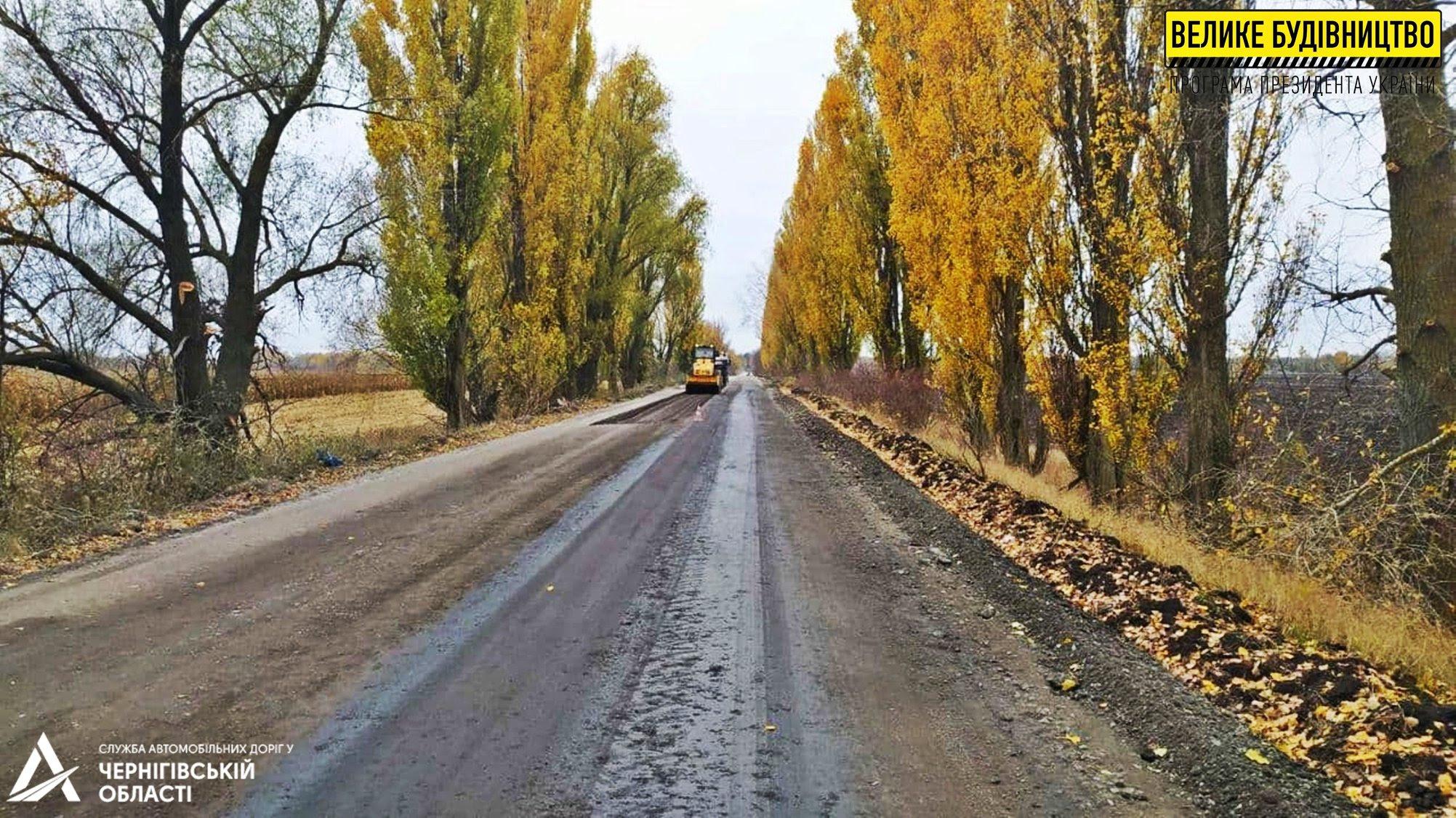 """У рамках програми """"Велике будівництво"""" ремонтується дорога Новий Биків – Монастирище (Фото)"""