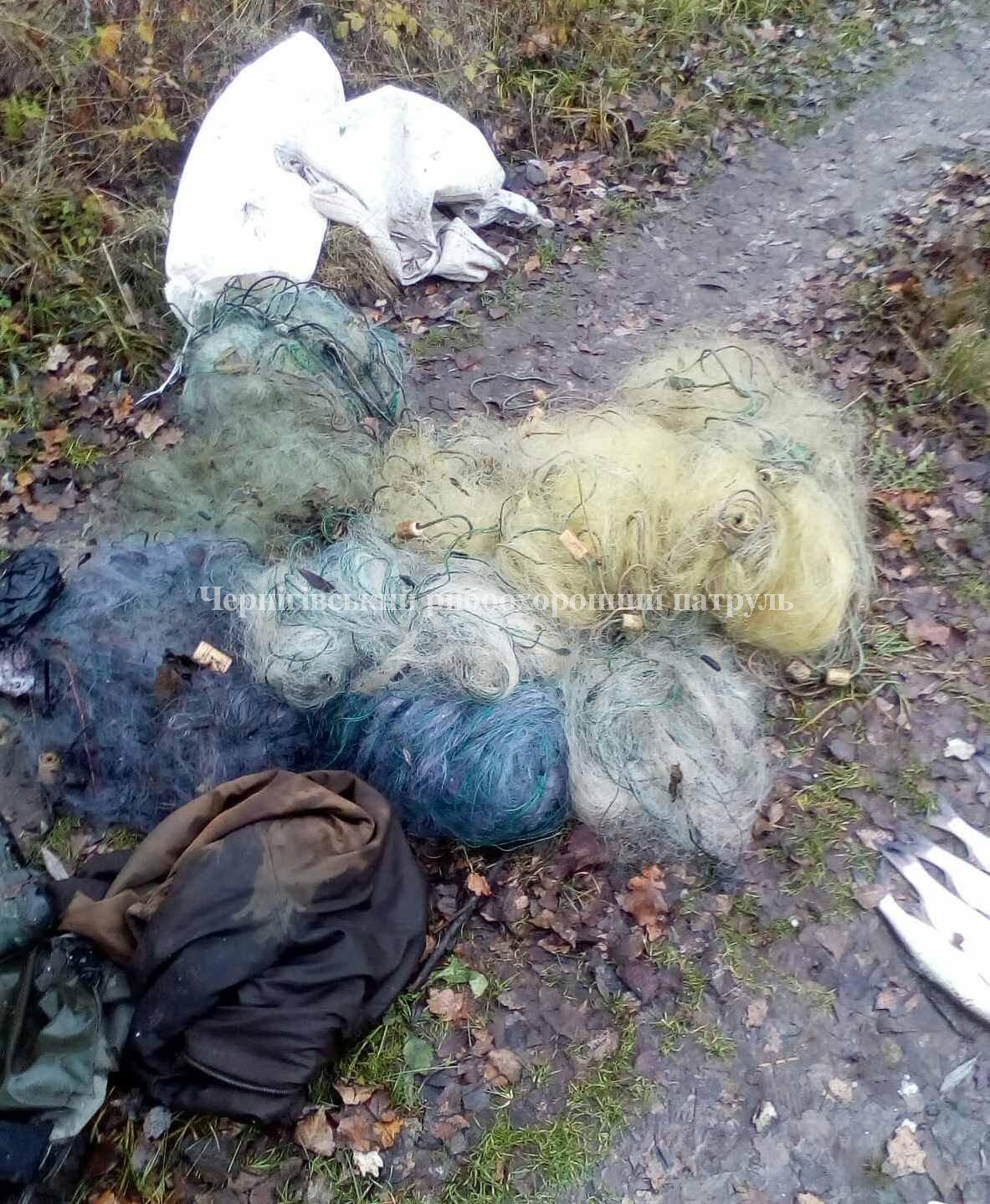 Чернігівським рибоохоронним патрулем викрито браконьєрів із 11 кг добутої риби (Фото)