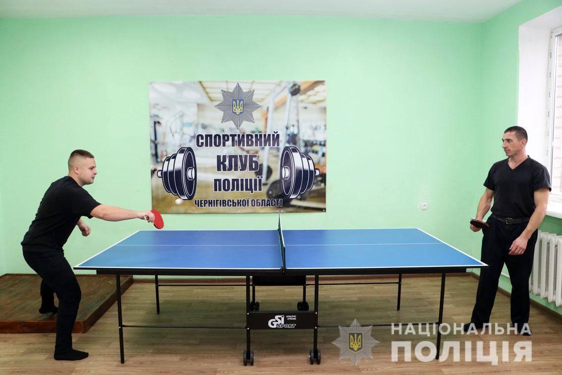У Бобровицькому відділенні поліції відкрили спортзал для правоохоронців