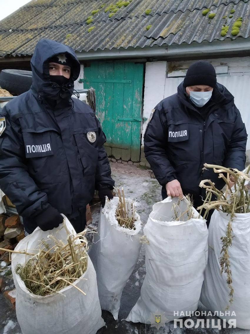 Сновська поліція вилучила у раніше судимого місцевого мешканця наркотики на понад 120 тисяч гривень (Фото)
