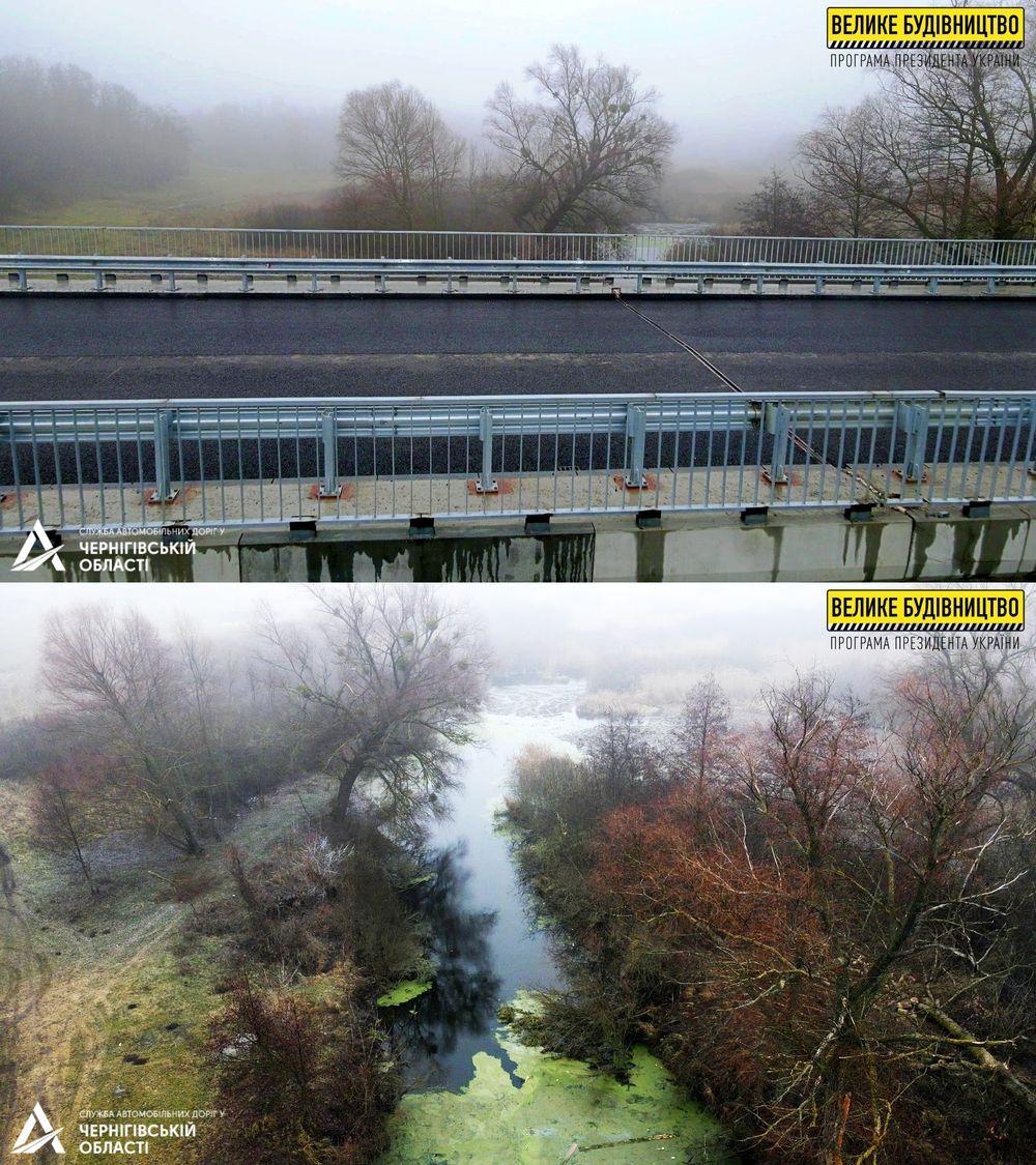 Реконструкція мосту через річку Удай майже завершена (Фото)