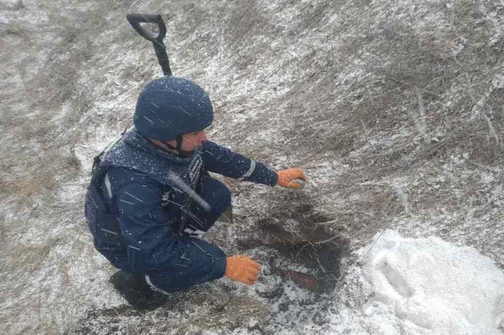 На Чернігівщині піротехніки ДСНС вилучили та знищили дві мінометні міни (Фото)