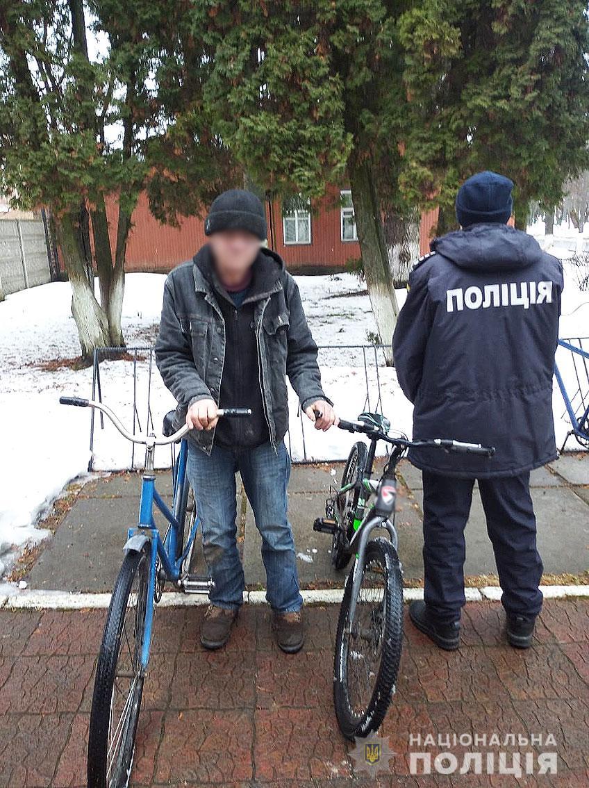 50-річний чоловік викрав два велосипеди у центрі Носівки (Фото)