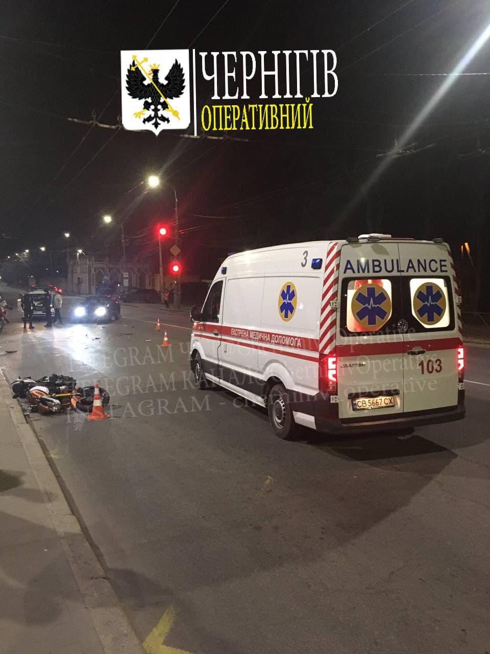 ДТП на вулиці Шевченка у Чернігові (Фотофакт)