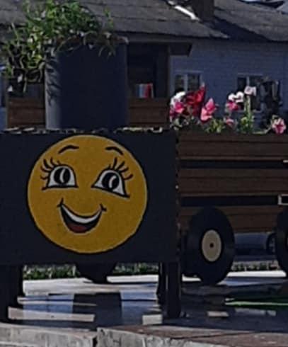 На Сновщині встановили декоративну клумбу-паровозик (Фотофакт)