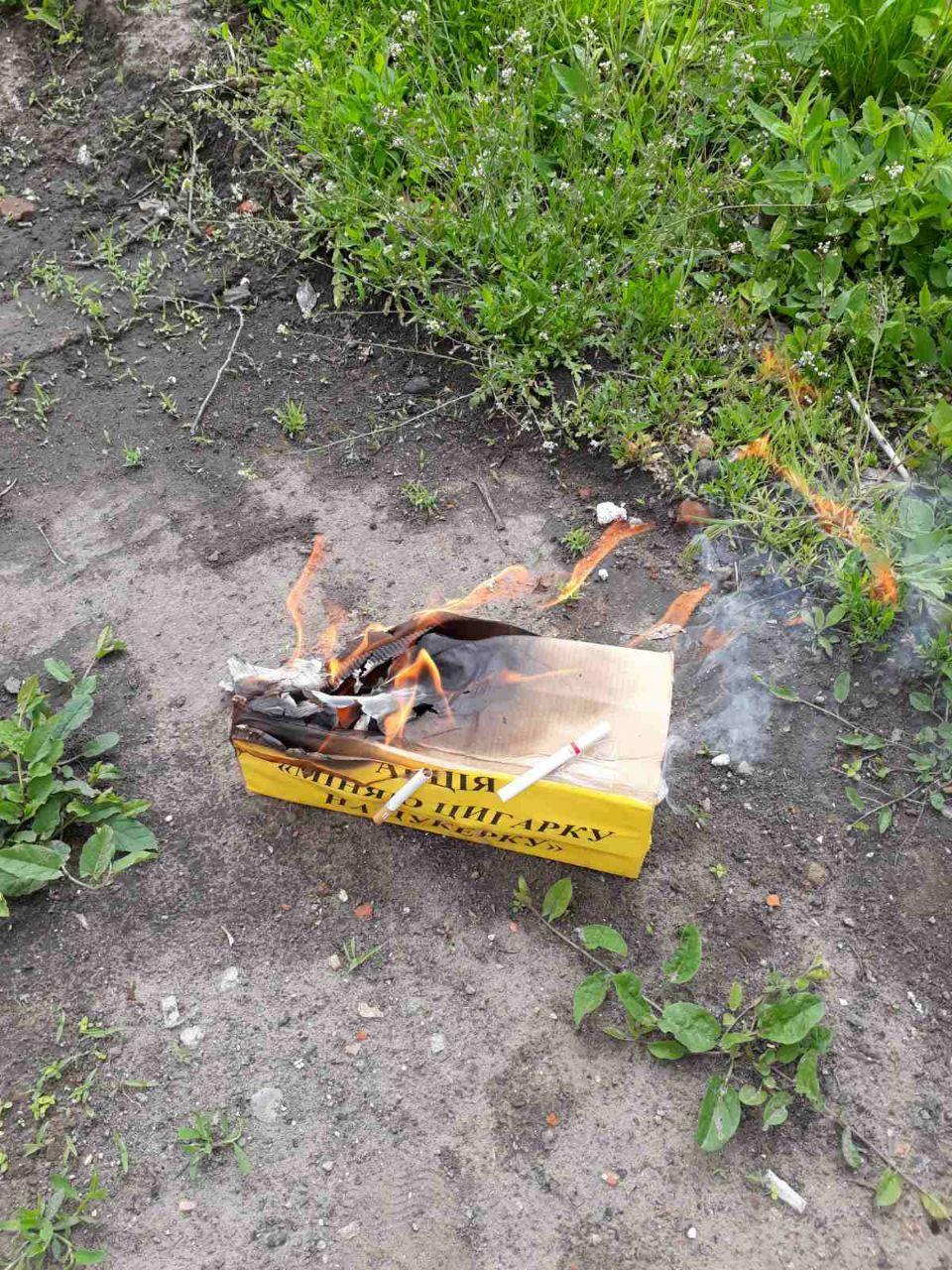 У селищі на Чернігівщині цукерки міняли на цигарки (Фото)