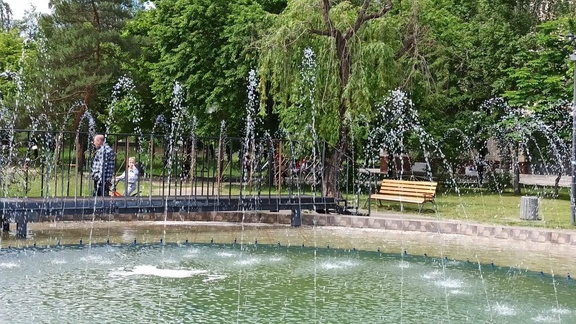 У Десні запрацював відремонтований фонтан (Фото)