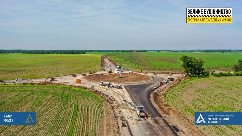 Ремонтується ділянка траси Н-07 поблизу Прилук (Фото)