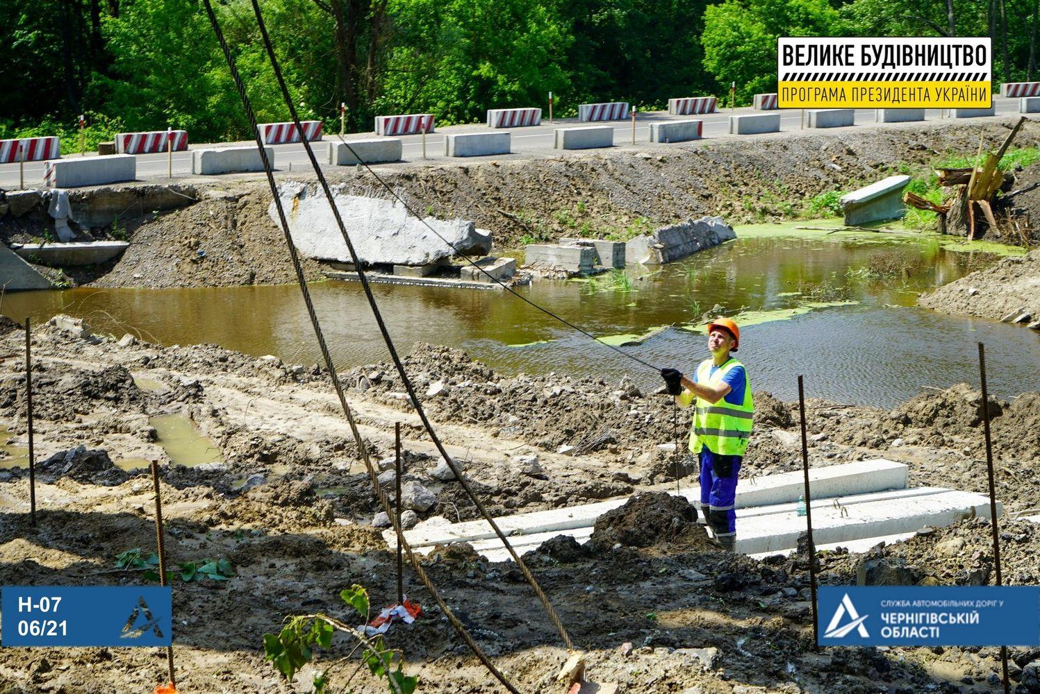 «Велике будівництво»: реконструкція мосту через річку Лисогір (Фото)