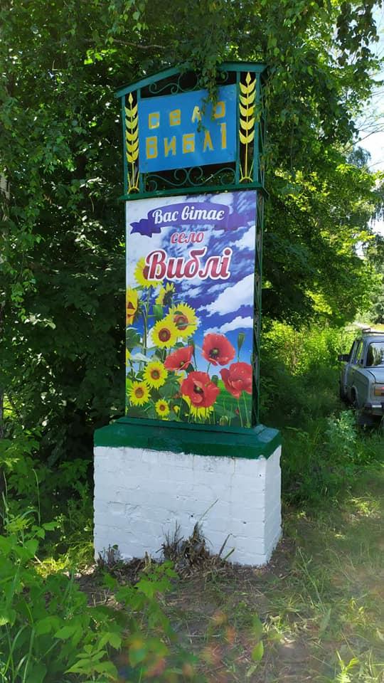 У Виблях відновили в'їзні знаки до села (Фотофакт)
