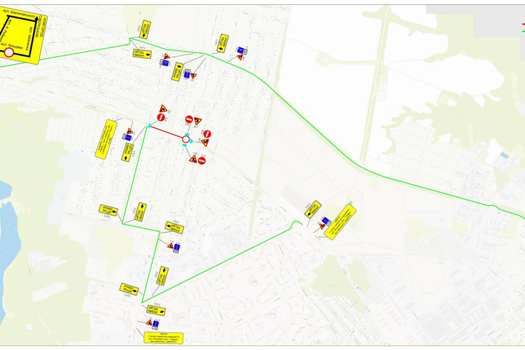 У Чернігові через ремонтні роботи перекриватимуть рух на трьох локаціях