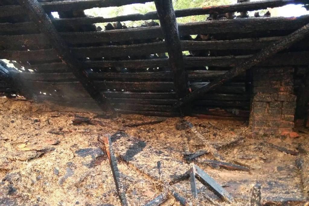 На Чернігівщині 7-річна дитина спалила будинок (Фото)