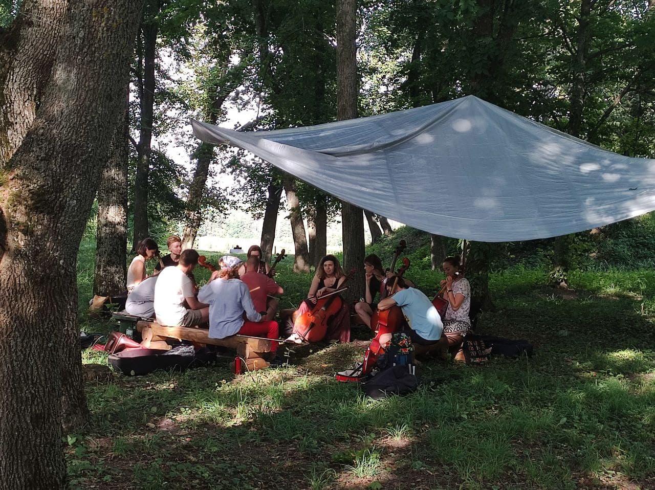 На Чернігівщину з'їхалися люди з різних куточків України та з-за кордону, аби вчитися традиційної музики