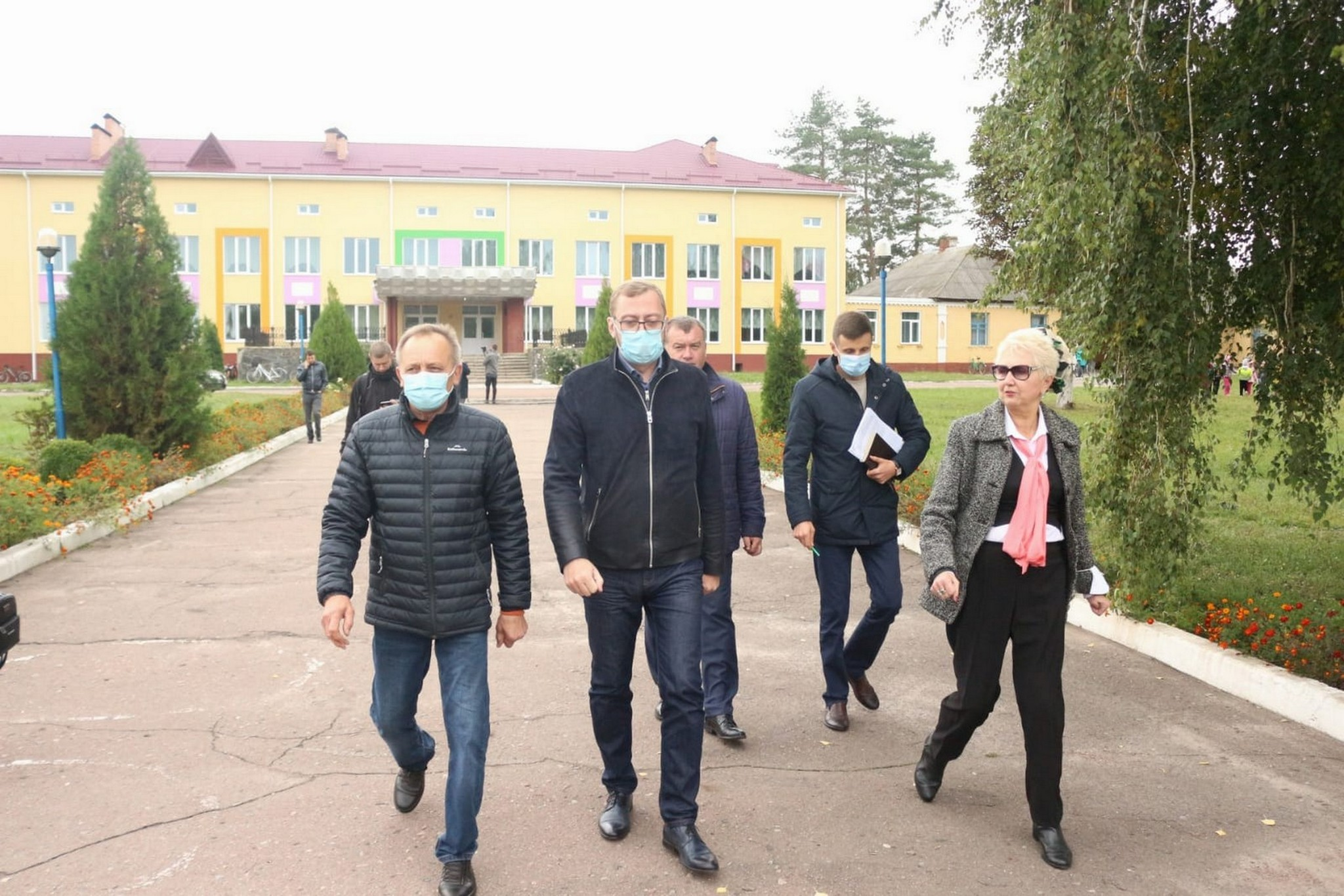 Дві школи, дві дороги та амбулаторія: В'ячеслав Чаус оглянув об'єкти «Великого будівництва» Прилуцького району (Фото)