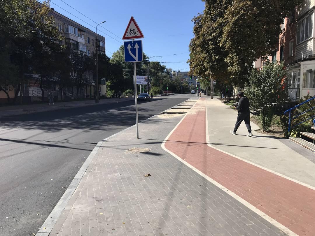 Ремонтні роботи на вулиці Шевченка добігають кінця (Фото)